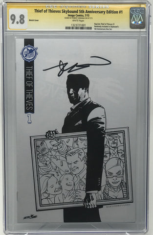 Thief of Thieves Skybound 5th Anniversary Edition #1 CGC 9.8 SS Robert Kirkman