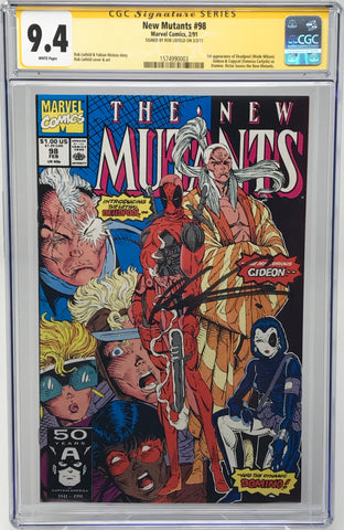 The New Mutants #98 CGC 9.4 SS Rob Liefeld