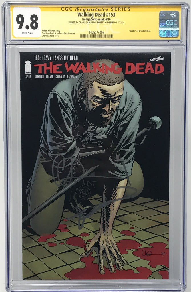 The Walking Dead #153 CGC 9.8 SS Robert Kirkman & Charlie Adlard