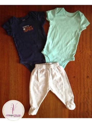 Set pantalon & 2 bodys - Viste lo que Viste