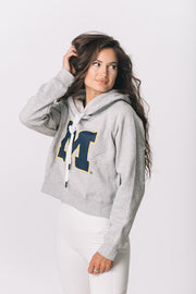 Michigan Wolverines Cozy Crop Hoodie