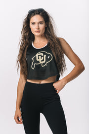 Colorado Buffaloes Black Game Day Crop Jersey
