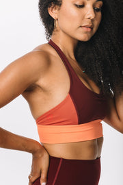 Color Block Halter Bra