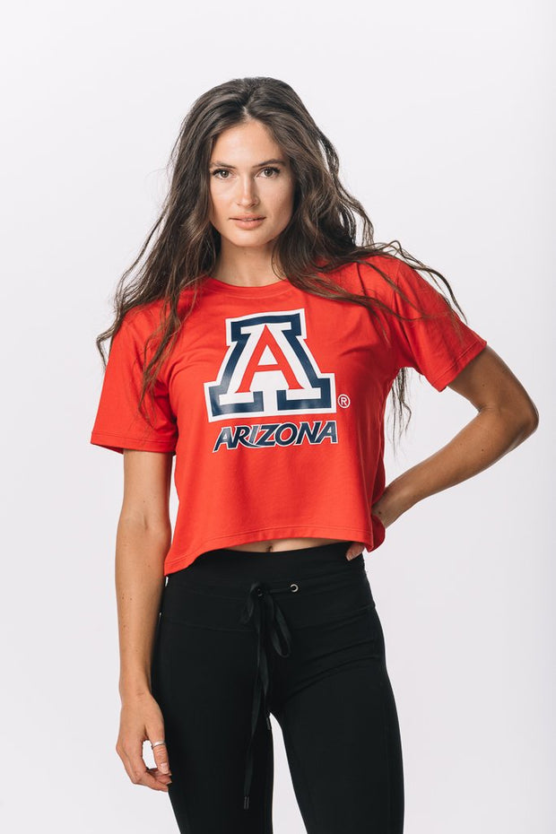 Arizona Wildcats Milky Silk Crop Tee