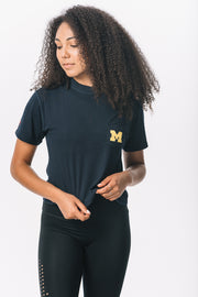 Michigan Wolverines Milky Silk Pocket Crop Tee