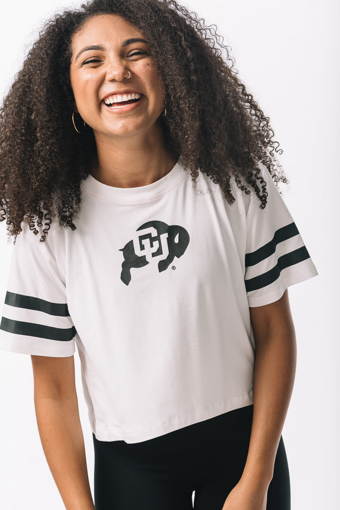 Colorado Buffaloes Milky Silk Crop Tee