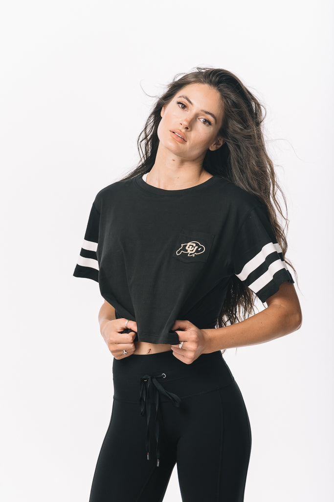 Colorado Buffaloes Milky Silk Pocket Crop Tee