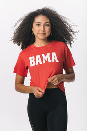 Alabama Crimson Tide Milky Silk Crop Tee