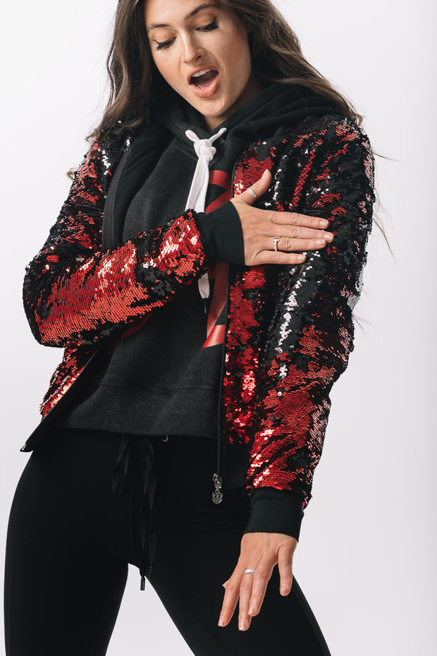 Sequin Bomber Jacket