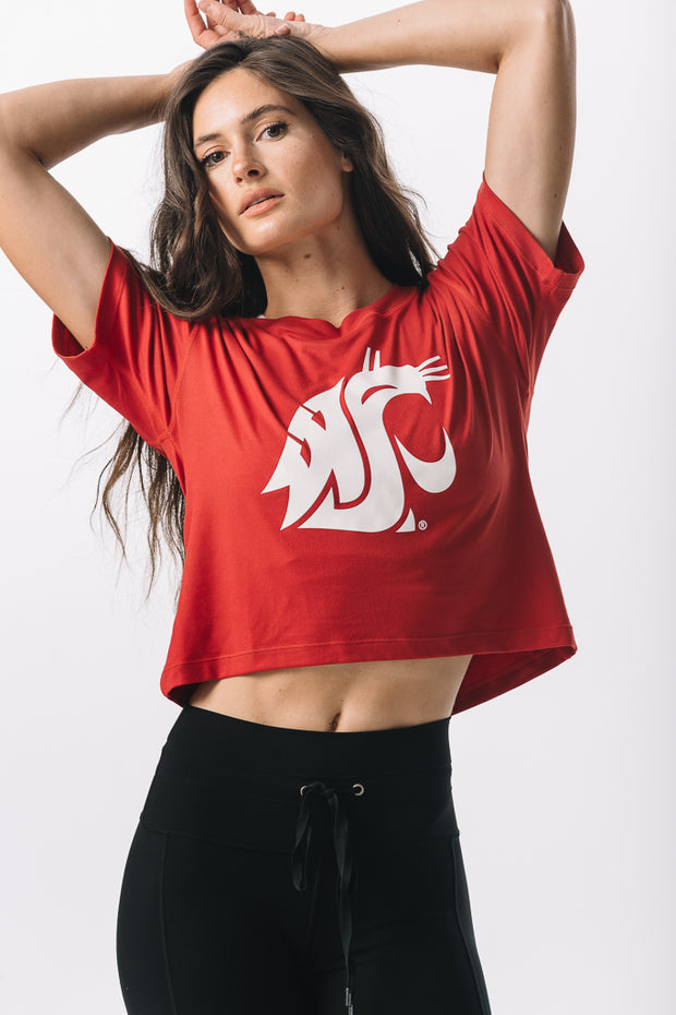 Washington State Cougars Milky Silk Crop Tee