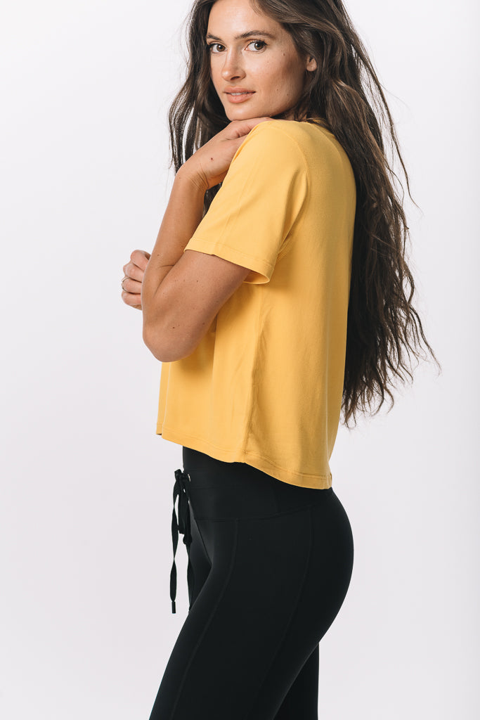 Michigan Wolverines Milky Silk Crop Tee