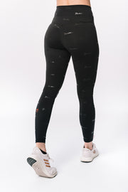 Tulane Green Wave All-Over Logo Black Legging