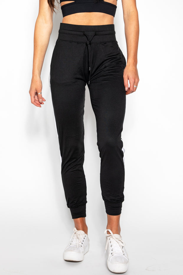 Black Milky Way Silk Jogger
