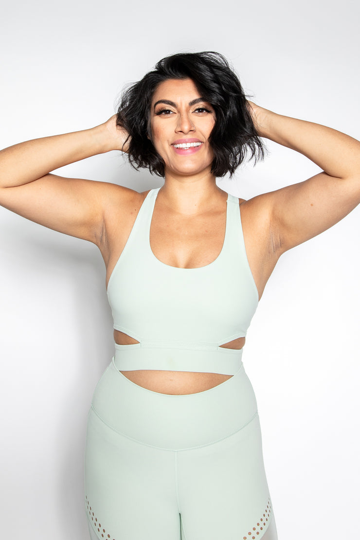 Neo-Mint Cosmo Cut-Out Bra
