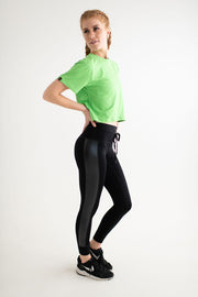 Faux Leather Hybrid Legging