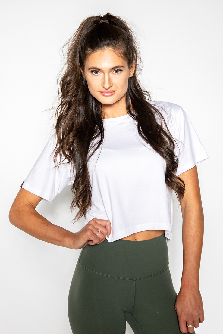 Milky Silk Crop Tee