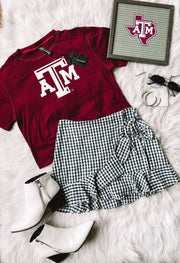 Texas A&M Aggies Milky Silk Crop Tee