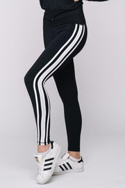 MVP White Stripe Legging