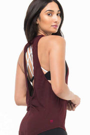 Milky Silk Open-Back Tank