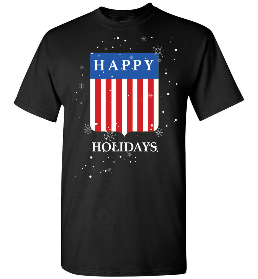 Happy Holidays USA Shield / Men's Tee