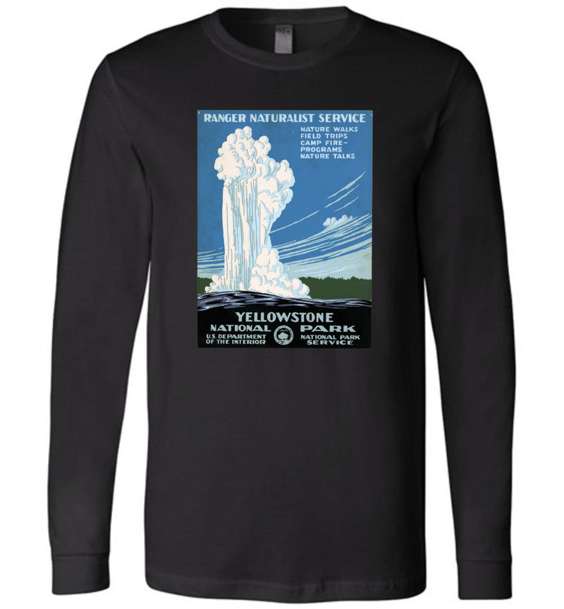 Yellowstone WPA Poster / Unisex Long-sleeve Tee
