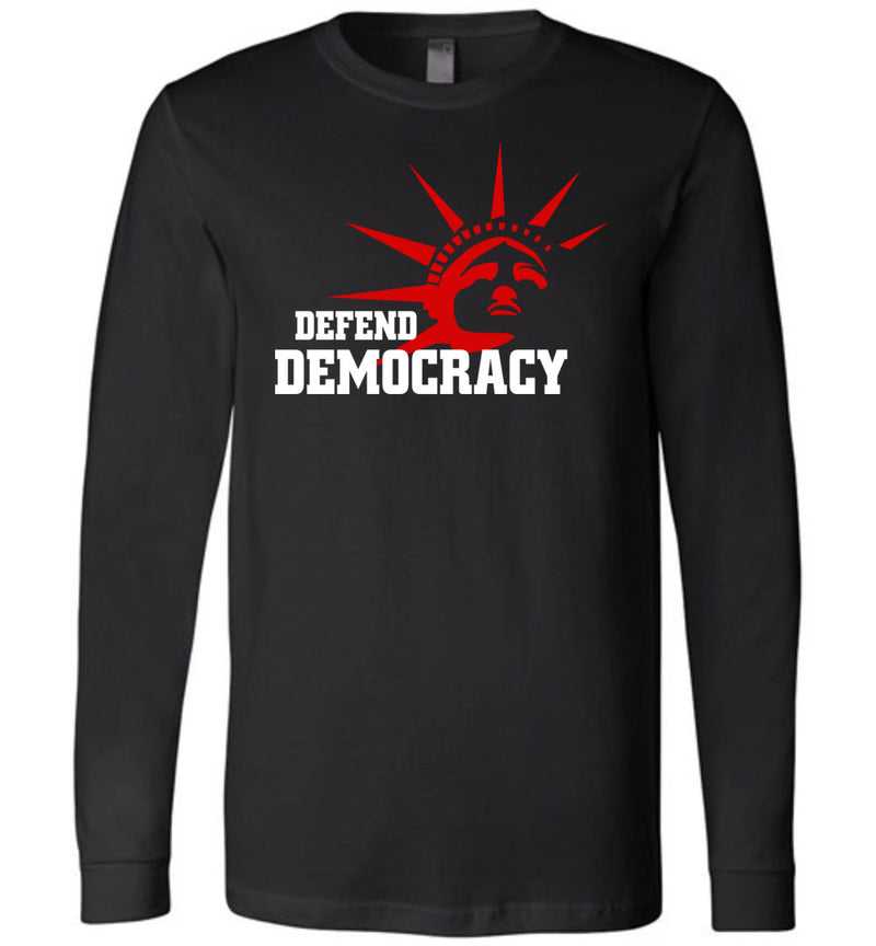 Defend Democracy / Unisex Long-sleeve Tee