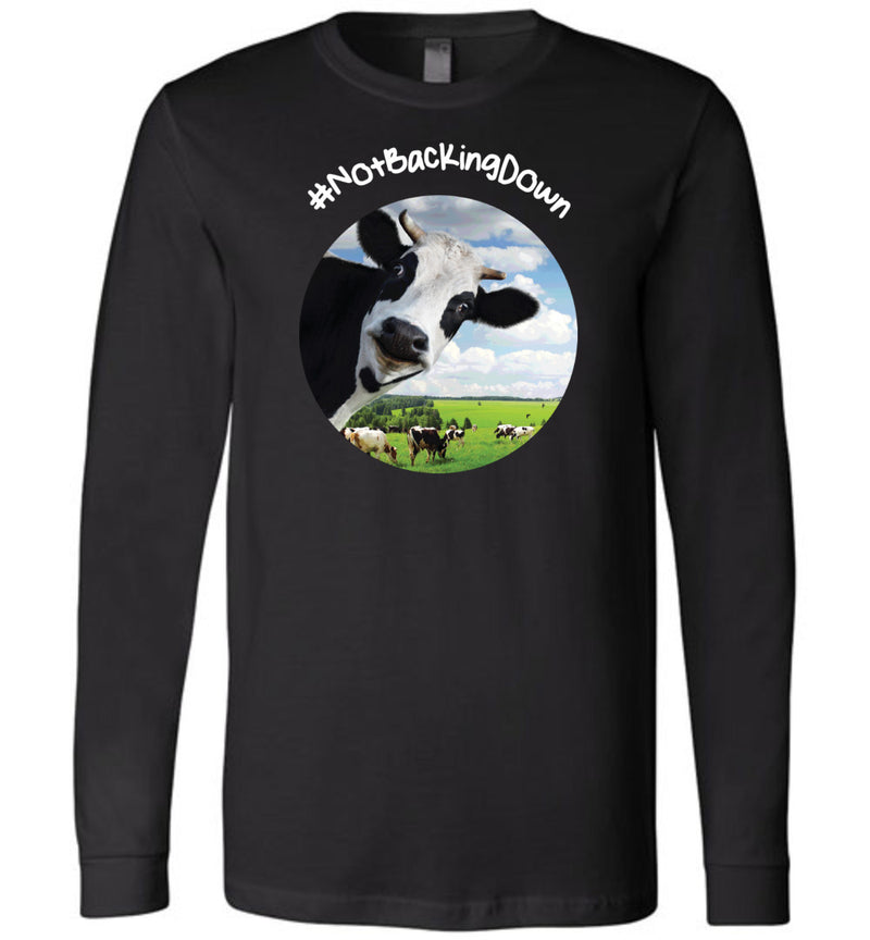 @DevinCow: #NotBackingDown / Unisex Long-sleeve Tee