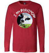 I AM @DEVINCOW / Unisex Long-sleeve Tee