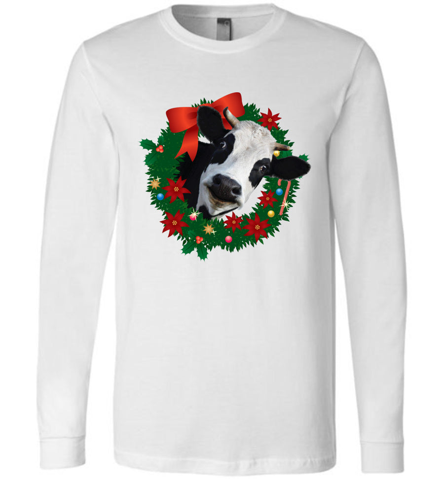 @DevinCow Wreath / Unisex Long-sleeve Tee