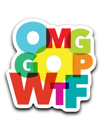 OMG GOP WTF / Sticker