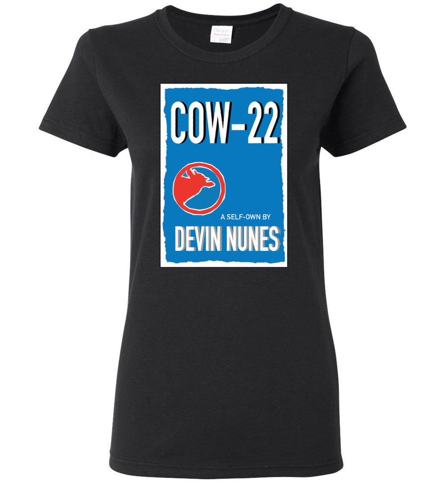 COW-22: A Self-own By Devin Nunes / Women's Semi-fitted Tee