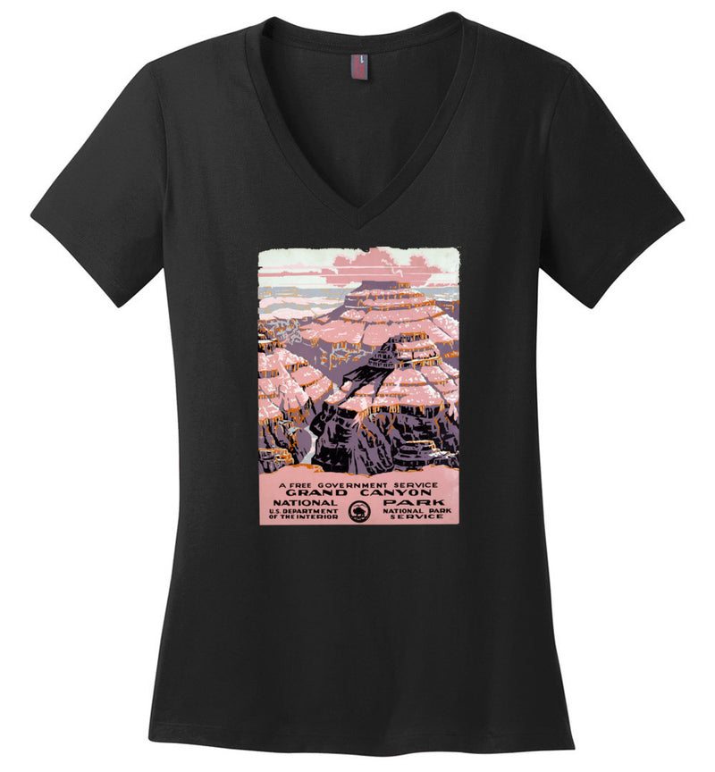 Grand Canyon WPA Poster / Women's V-neck Tee