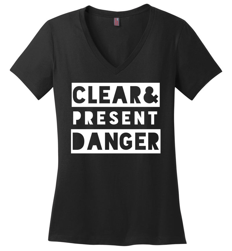 Clear & Present Danger / Women's V-neck Tee