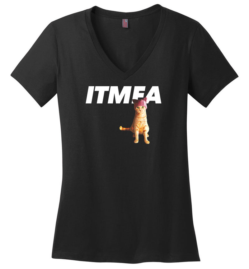 ITMFA Resistance Kitty / Women's V-neck Tee