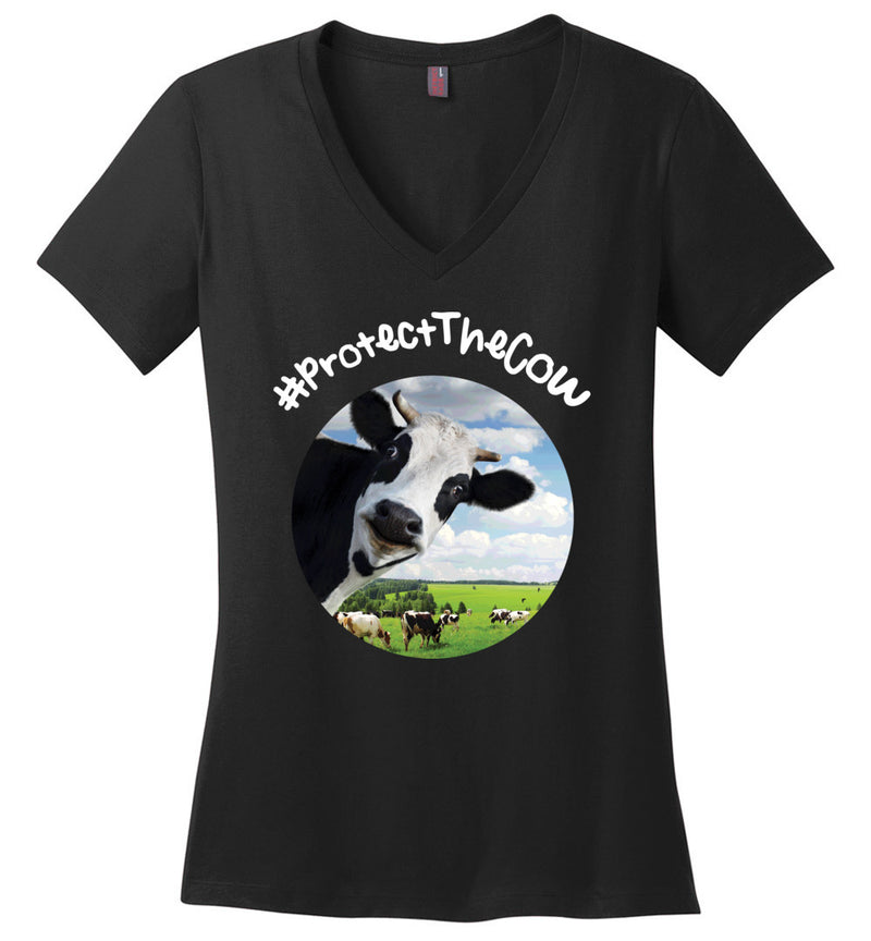#ProtectTheCow / Women's V-neck Tee