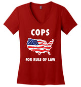 Cops for Rule of Law / Women's V-neck Tee