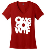 OMG GOP WTF / Women's V-neck Tee