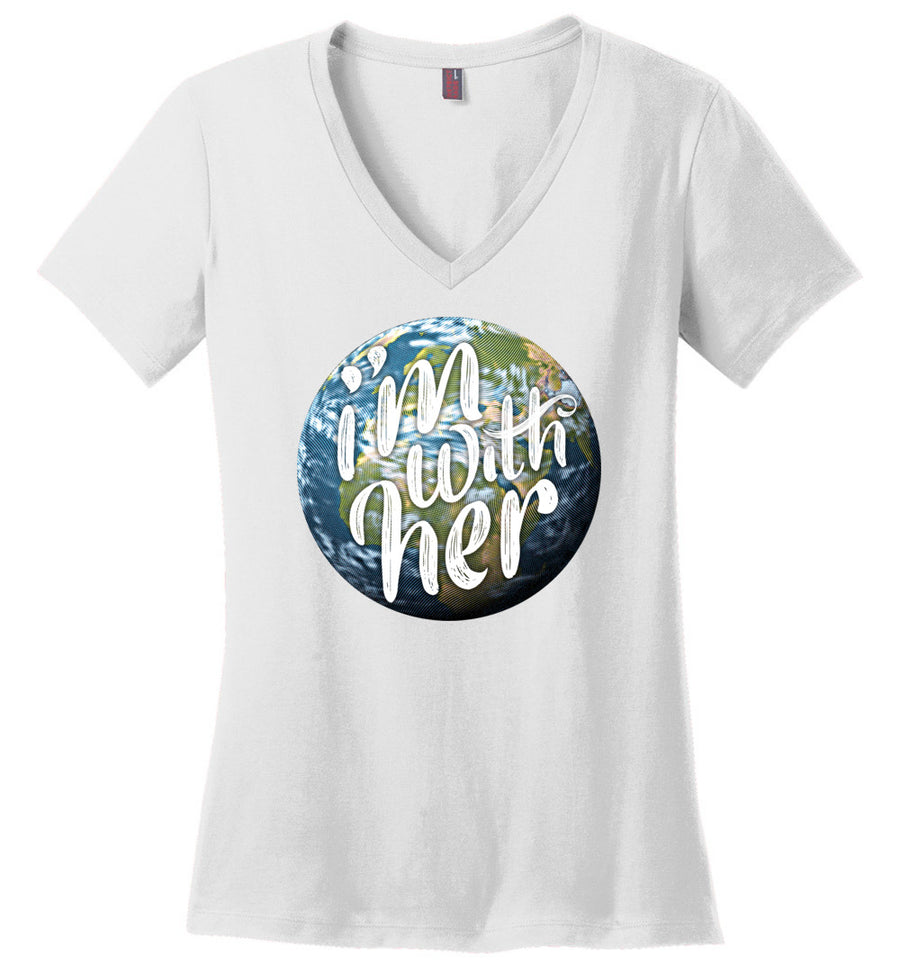 I'm with Her / Women's V-neck Tee