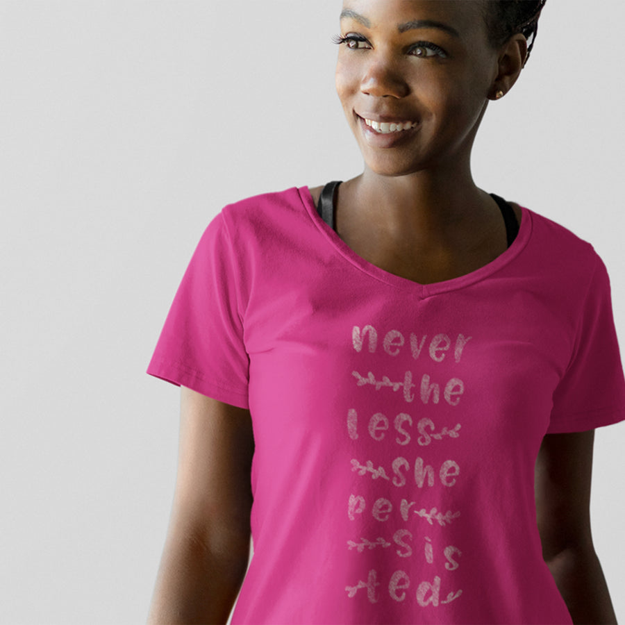 Nevertheless Natural / Women's V-neck Tee