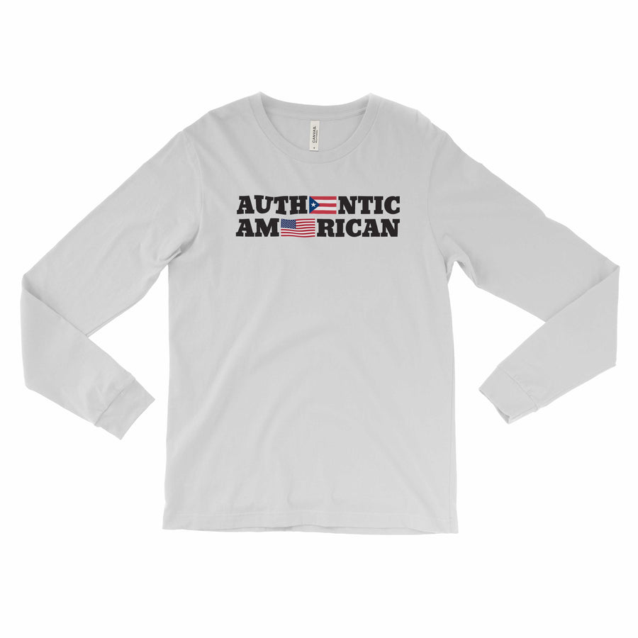 Authentic Puerto Rican American / Long-sleeve Tee