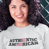 Authentic Puerto Rican / Long-sleeve Tee