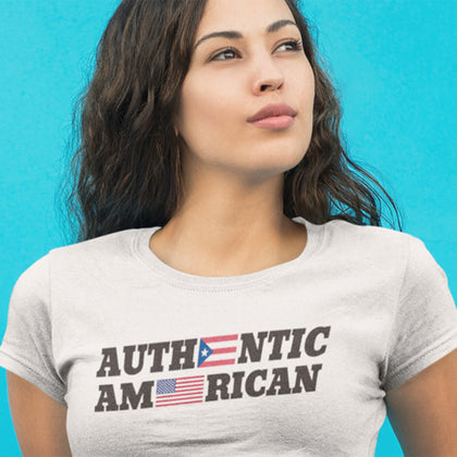 Authentic Puerto Rican / Women's Semi-fitted Tee