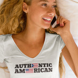 Authentic Puerto Rican / Women's V-neck Tee