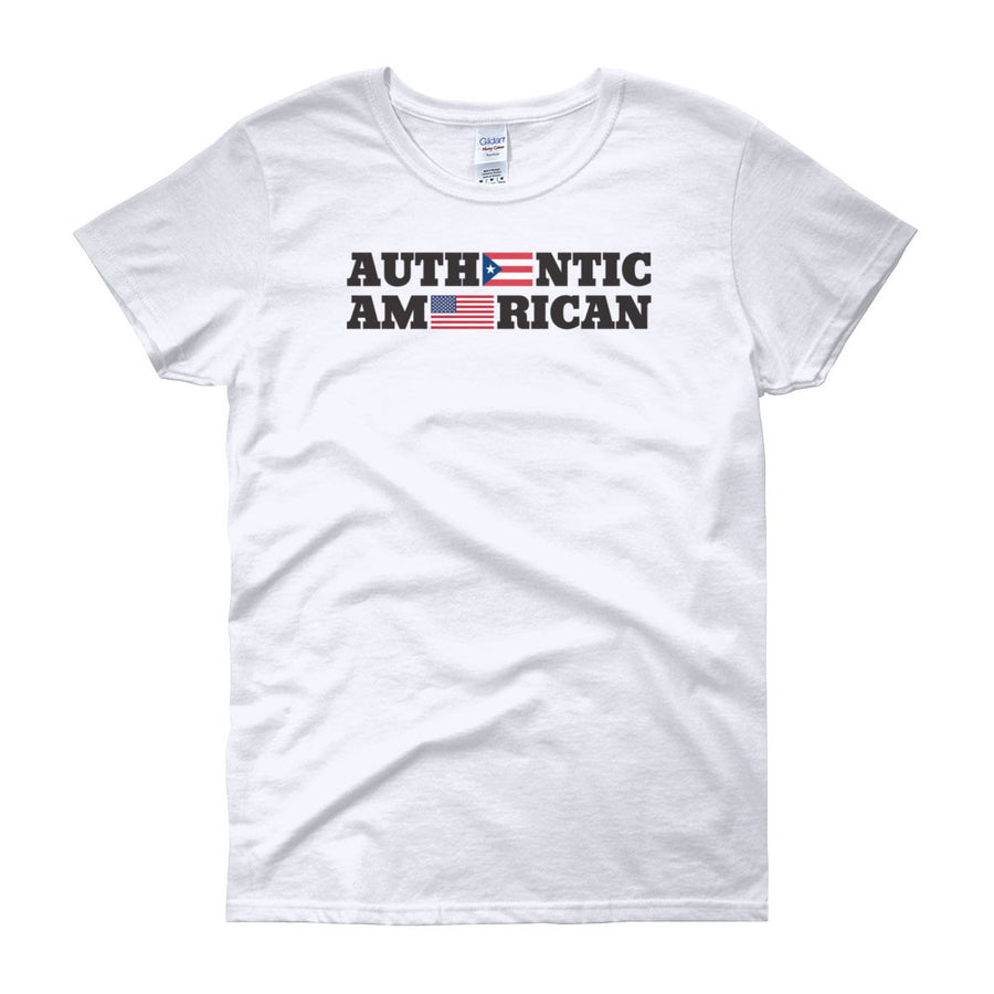 Authentic Puerto Rican American / Women's Semi-fitted Tee