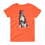 Resistance Pittie / Womens Semi-fitted Tee