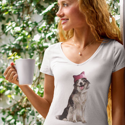 Resistance Collie / Women's V-neck Tee