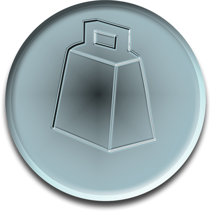 Virtual Silver Cowbell