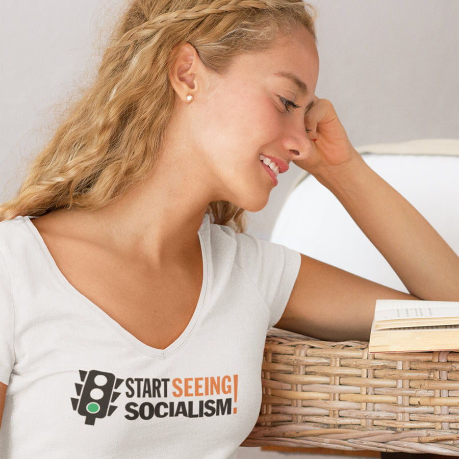 Start Seeing Socialism! / Women's V-neck Tee