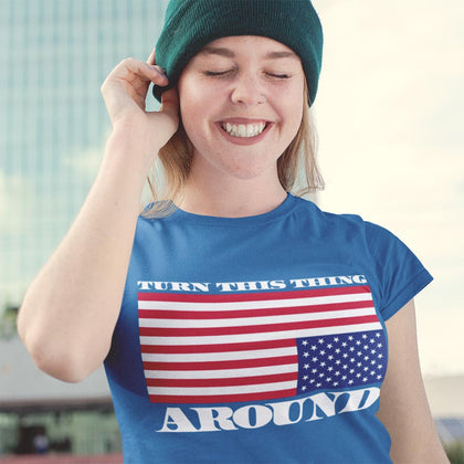Turn This Thing Around / Women's Semi-fitted Tee