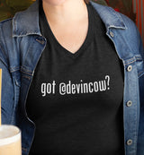 Got @DevinCow? / Women's V-neck Tee